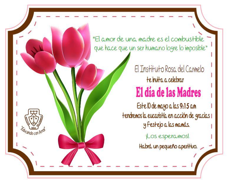 Invitacion DÍa De Las Madres RegiÓn: 10 De Mayo Invitaciones Vintage Www Imagenesmy Com